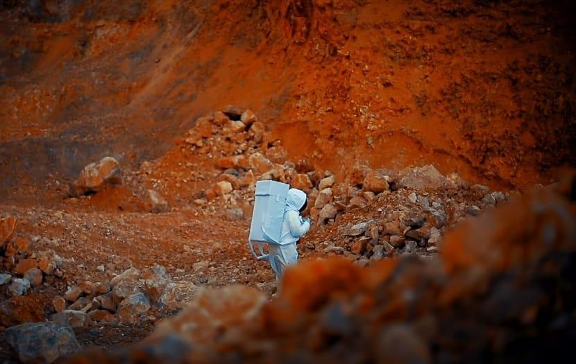 Mars colony.