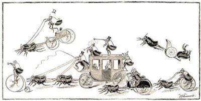 un circo de pulgas en diferentes actos
