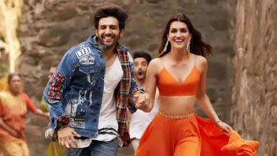 Luka Chuppi (2019) Movie Scenes Kriti Sanon Orange Blouse
