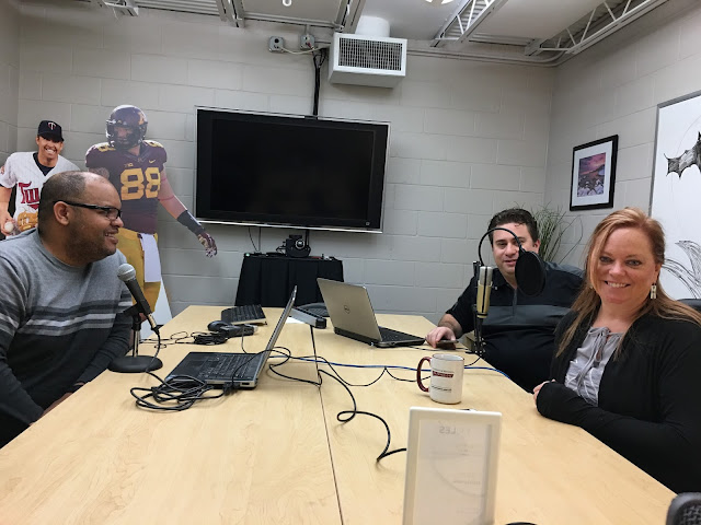 photo: recording the podcast