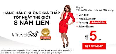 Khuyến mãi đầu tuần của Air Asia (18-07)