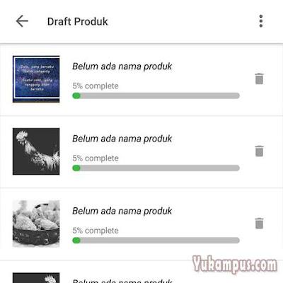 draft produk tokopedia