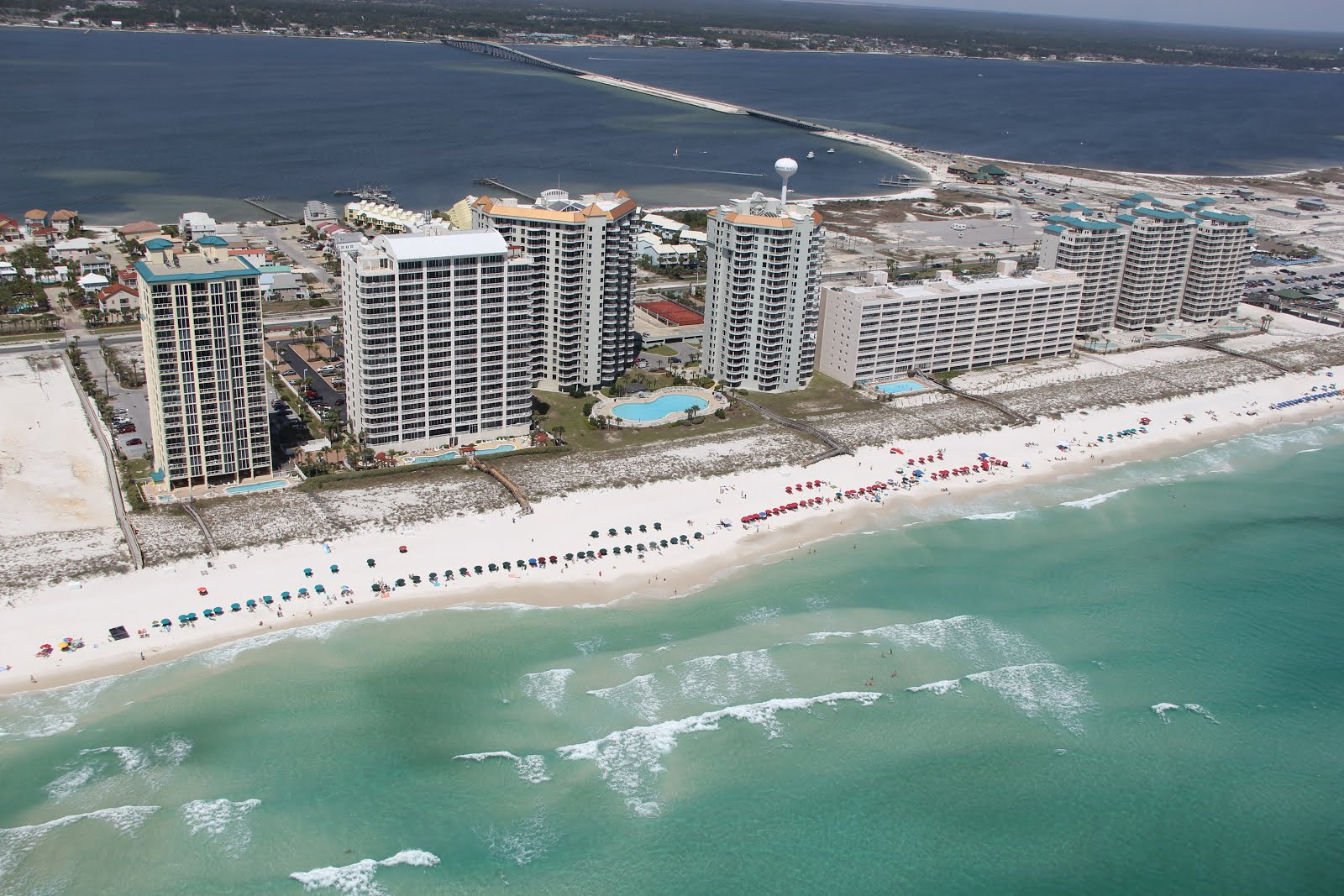 Aerial View Of Navarre Beach Fl Along The Gulf Mexico