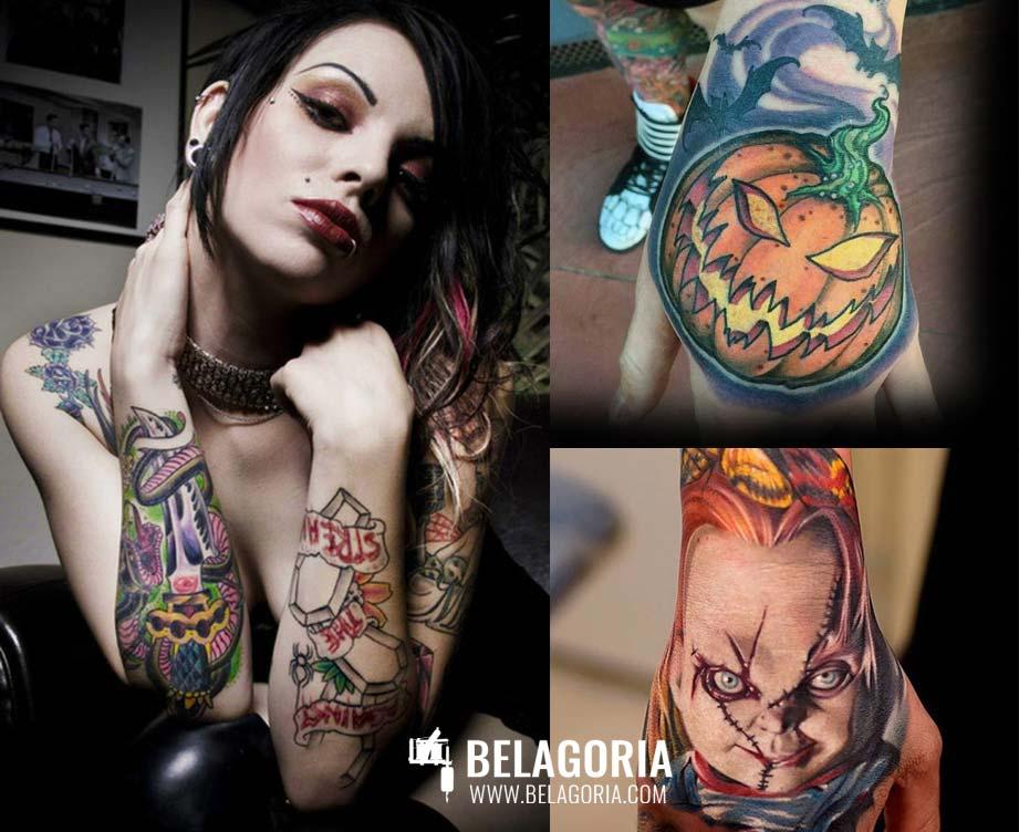 Tatuajes Temporales para Halloween y su significado