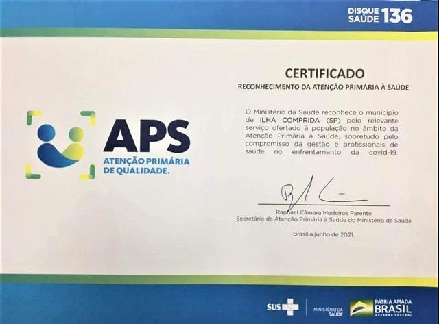 Saúde da Ilha recebeu certificado de Reconhecimento da Atenção Primária à Saúde do Ministério da Saúde