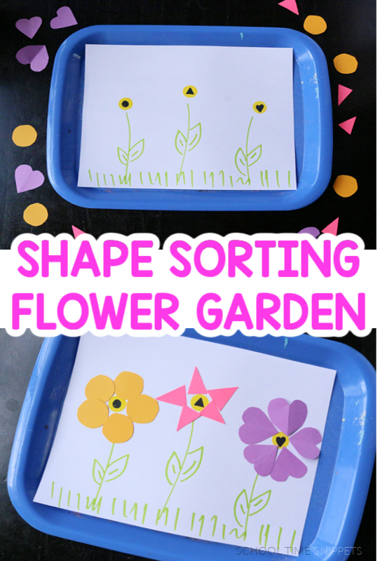sorting shapes flower garden