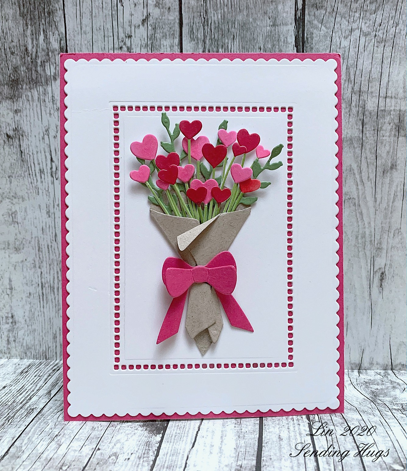 Sending Hugs: A Bouquet of Hearts for Valentine's Day
