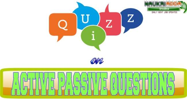 quiz based on Active Passive Questions
