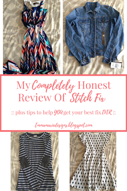 A very honest review on Stitch Fix plus pros and cons and tips to help you get your best fix ever @ emmamriedesigns.blogspot.com