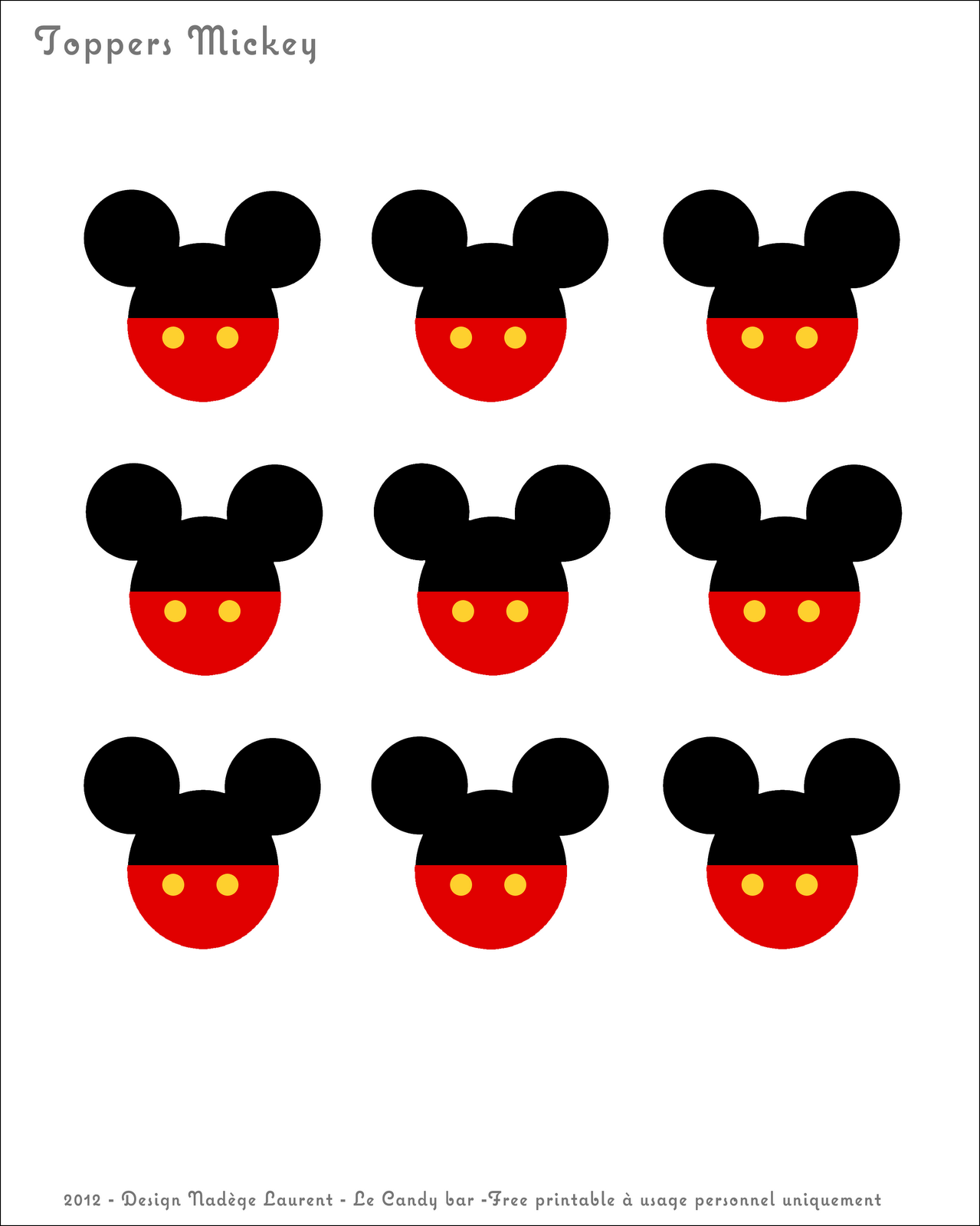Free Printable Toppers