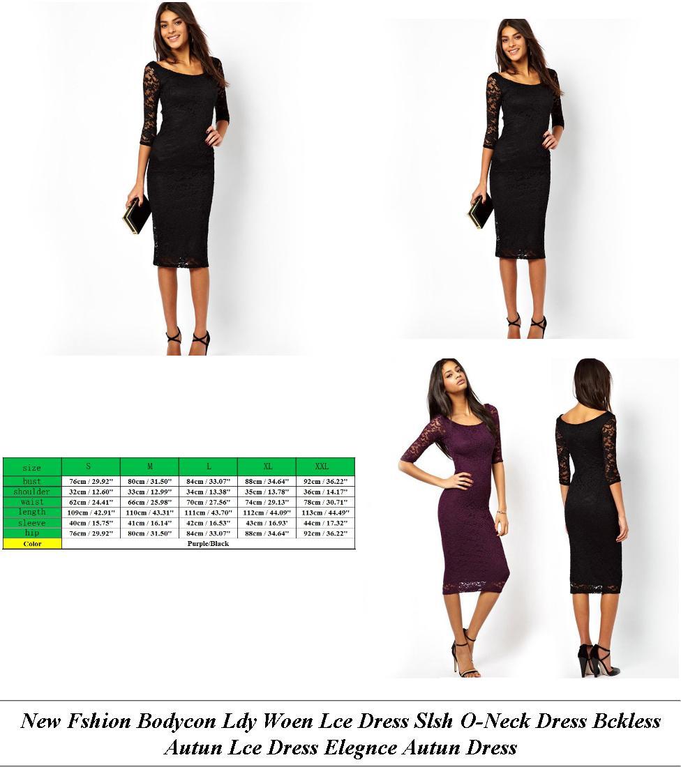 Fancy Maxi Dresses Uk - Est Lack Friday Deals Womens Clothing - Lace Dress Long Sleeve Short