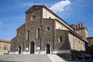Faenza's cathedral still has a simple brick facade, and as  such is regarded as an unfinished project