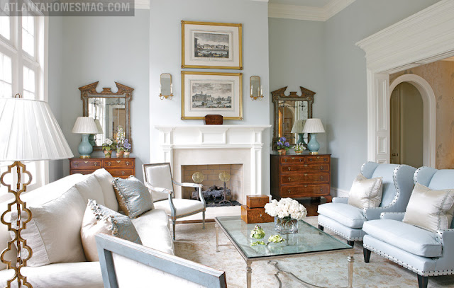 Mix And Chic Home Tour An Elegant Georgian Style Home