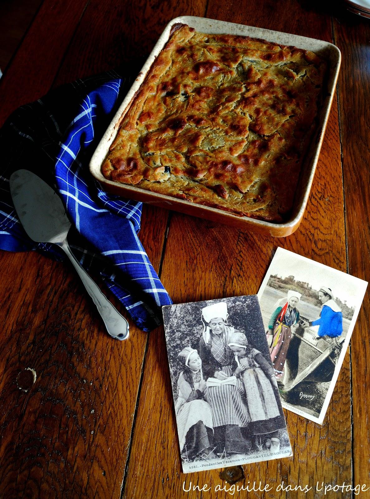 Farz forn gwiniz du ( far de blé noir au four) recette bretonne