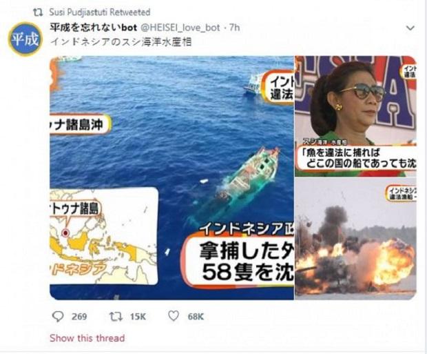Media Jepang Beritakan Susi Pudjiastuti: Sosok yang Dibutuhkan Untuk Melawan China