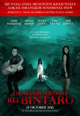 Poster Film Dendam Arwah Rel Bintaro