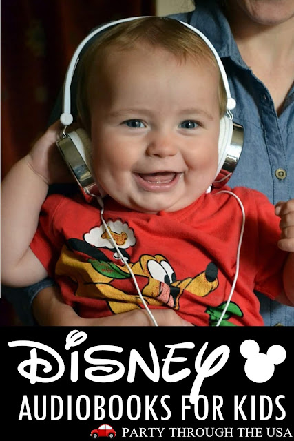 The Best Disney Audiobooks for Kids // Party Through the USA // road trips // vacation // family fun // disney // audiobooks