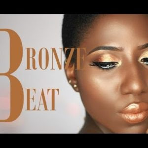 "Omosalewa of The MakeupTales is back with another cosmetics instructional exercise for this bronzy gleam cosmetics look, which she calls ""bronze beat."""