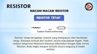 simbol resistor tetap