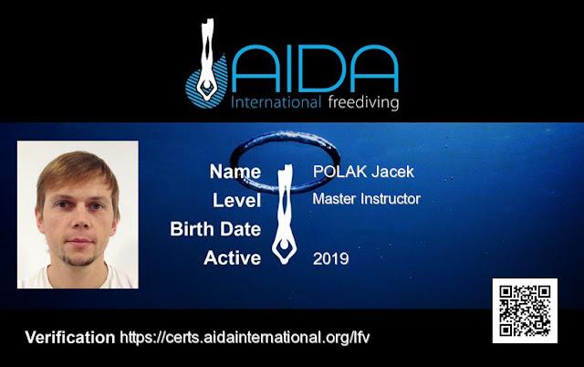 Kursy Freedivingu AIDA Jacek Polak
