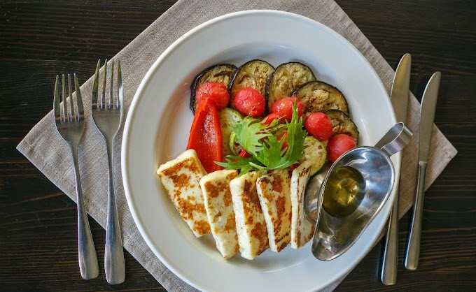 Жареный Сернурский сыр Халумис для жарки с овощами