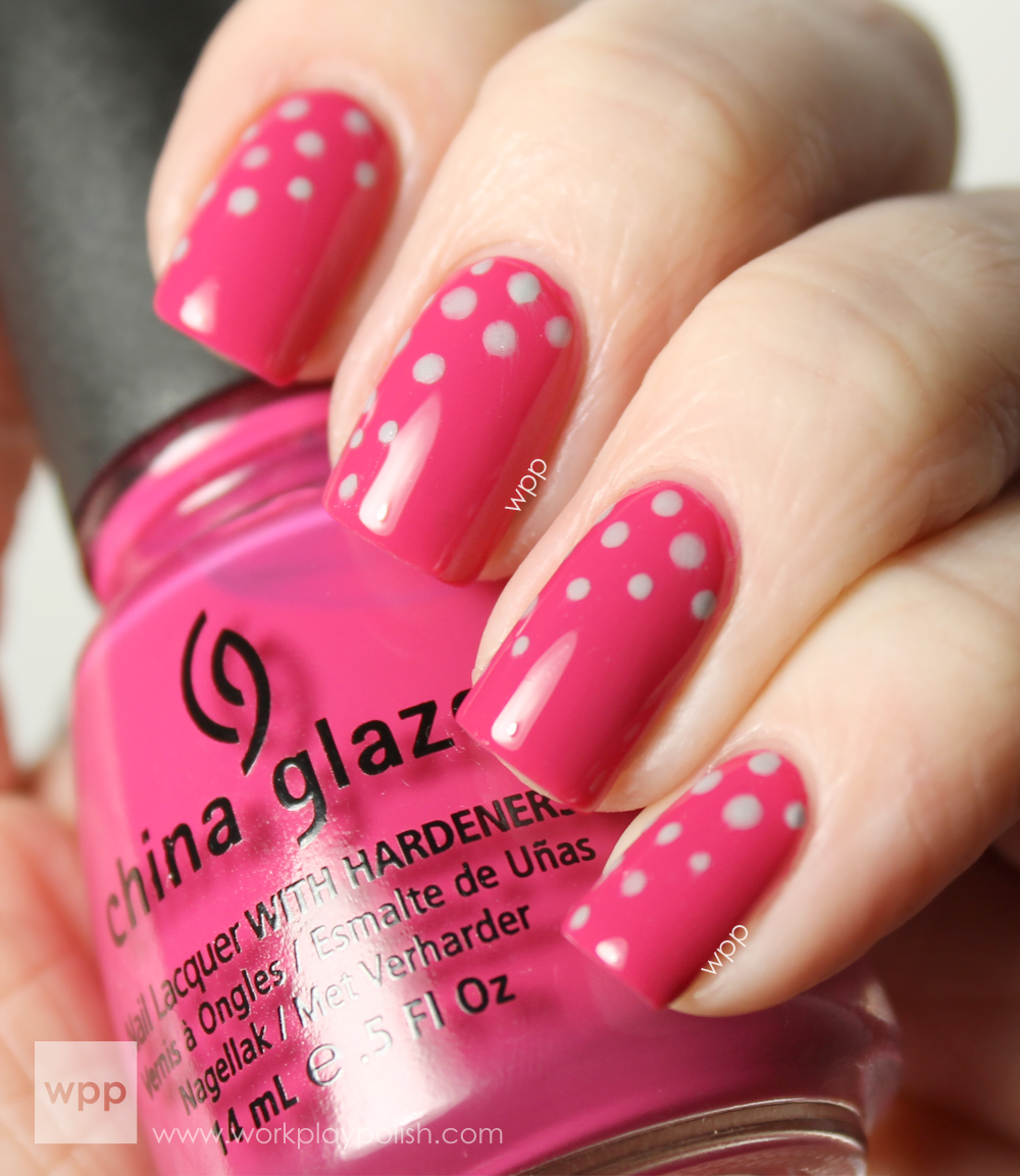 China Glaze Make an Entrance with Pelican Gray Dots (work / play / polish)