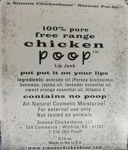 chicken poop lip junk ingredients