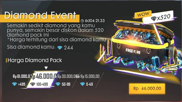 Event Diamond Special Air Drop 468 Spooky Night Semakin Sedikit Makin Diskon