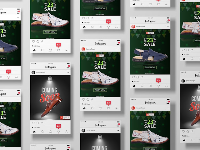 shoes social Media posts Design