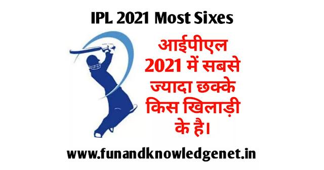 वीवो आईपीएल में सबसे ज्यादा सिक्स किस प्लेयर के है - IPL 2021 Mein Sabse Jyada Six Kis Player Ke Hai