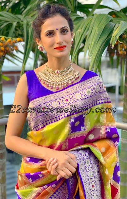 Shilpa Reddy Latest Polki Diamond Choker