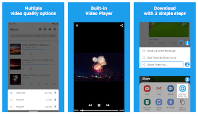 App para descargar videos de Twitter