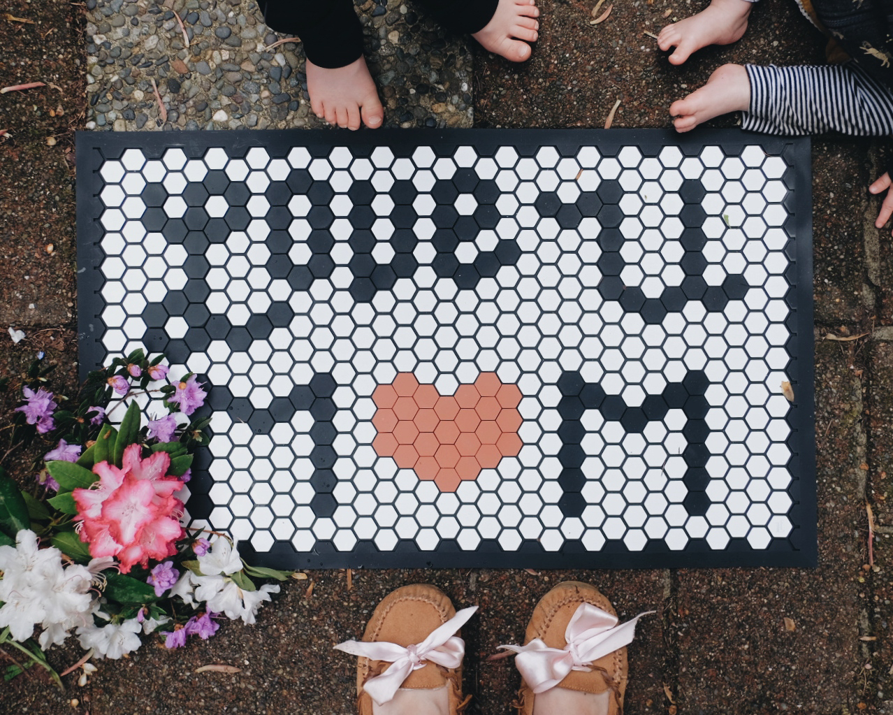 new doormat letterfolk tile mat