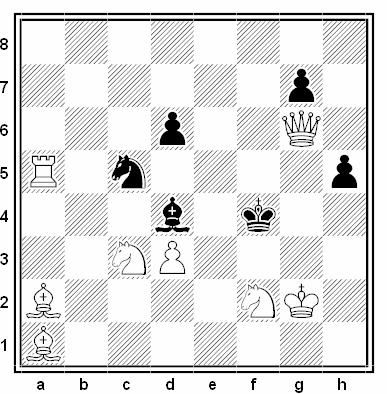 Problema de mate en 2 compuesto por Luis Gómez Palazón (Premio Especial, ChessStar 2018)