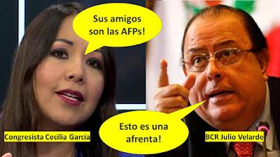 Amigo de las AFP Esto es una afrenta García vs Velarde