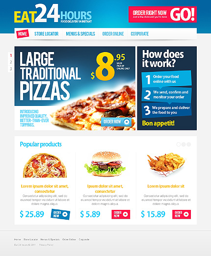 24H PizzaShop Web Template