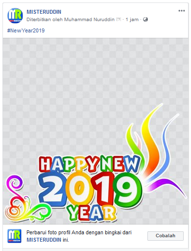 How to add a frame to your page's profile picture (Happy New Year 2020) 1