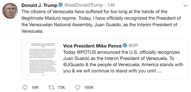 Trump va por Maduro