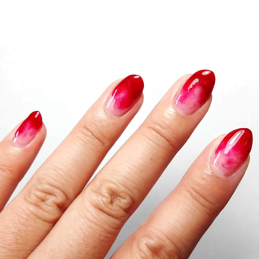 Red Marble Nails
