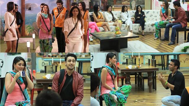 Kareena and Imraan interacting with Bigg Boss housemates