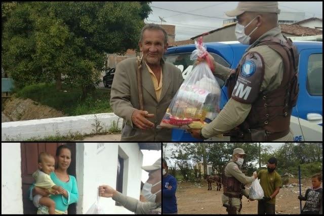 PM faz entrega de cestas básicas para famílias carentes em Vitória da Conquista