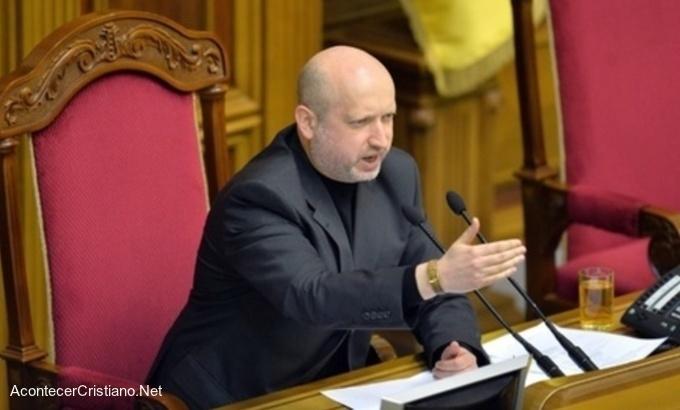 Pastor es el nuevo Presidente interino de Ucrania