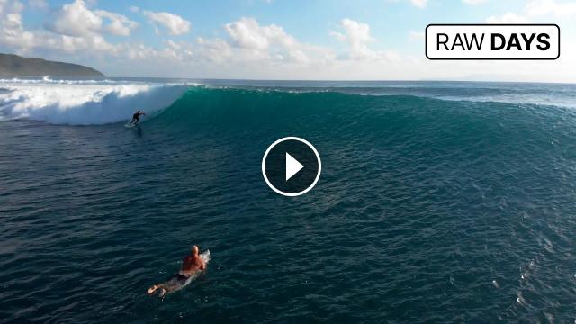 RAW DAYS Desert Point Lombok Indonesia One of the world s best left-hander barrel waves