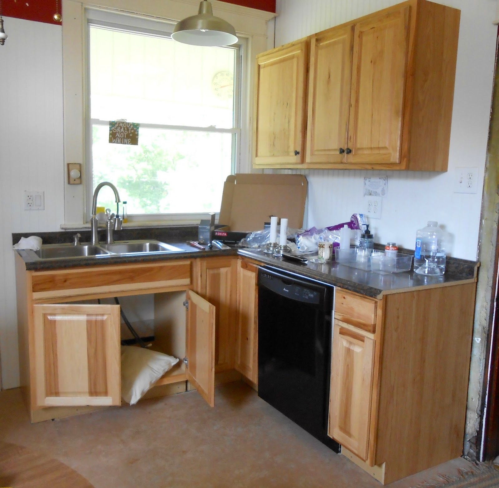 Kitchen Sink Plumbing With Dishwasher And Drinking Water Spigot