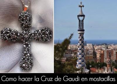 Como hacer la Cruz de Gaudi con Abalorios