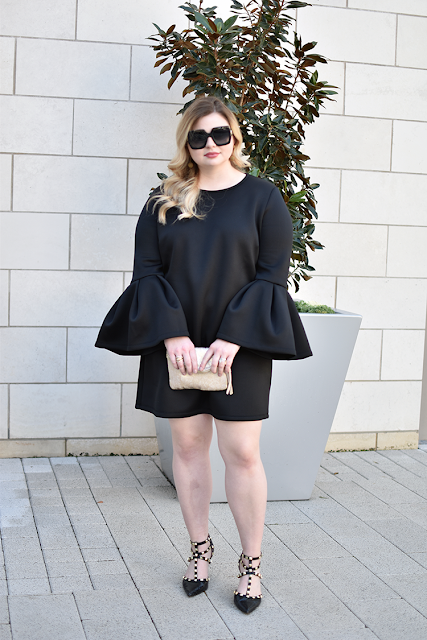 nordstrom pleione bell sleeve a line dress lbd little black dress under 50 bcbg studded pumps valentino rockstud sole society tiia heels anthropologie zippered mini envelope clutch gucci square sunglasses legacy west
