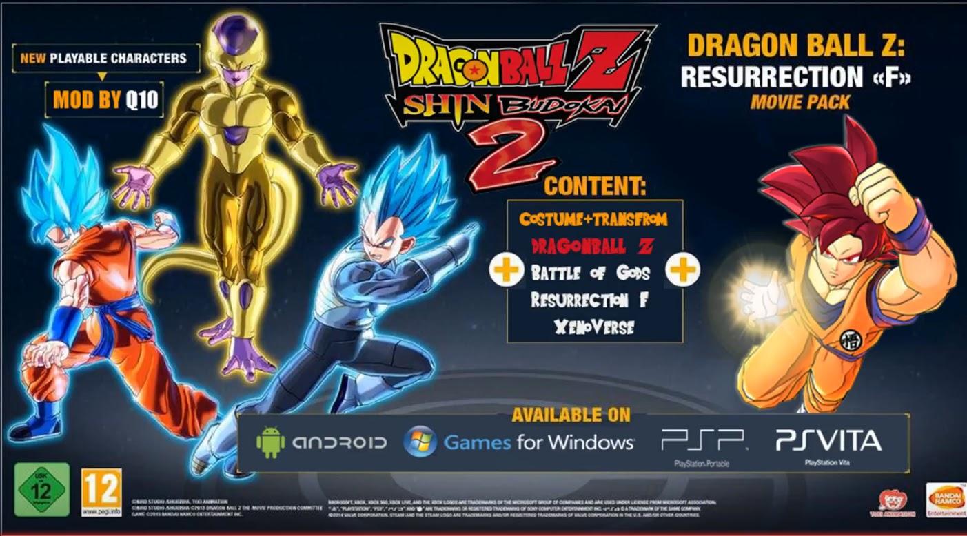 Download Dragon Ball Z Shin Budokai 2 Mod Fukkatsu Psp