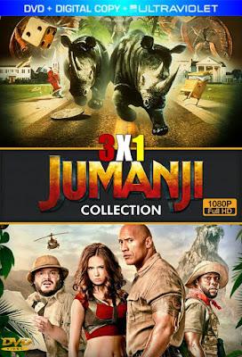 Jumanji Colección 3×1 DVD HD Dual Latino + Sub