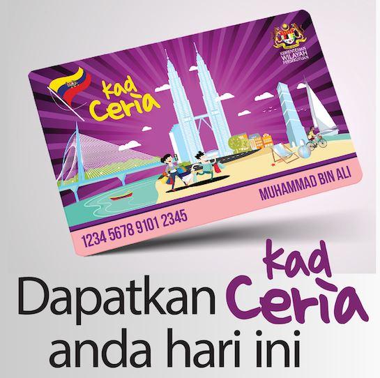 program kad ceria, initiatif untuk rakyat, kemudahan potongan harga