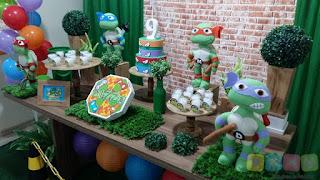 Decoração de festa infantil Tartarugas Ninja